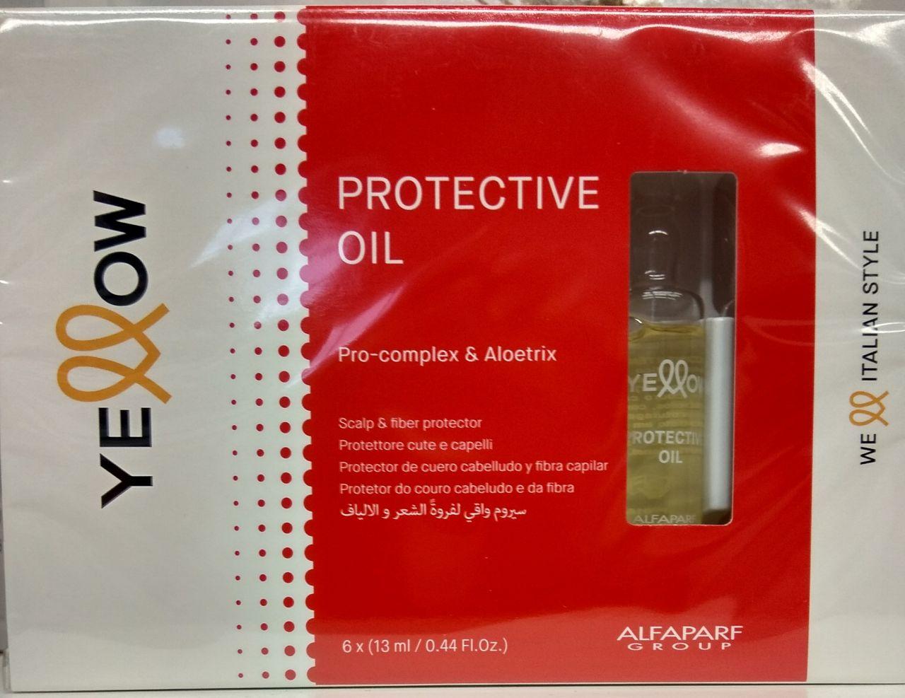 Yellow Protective Oil Fejbőr és Hajrost védő 6X13 ml